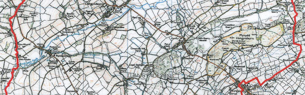 Map ward cyngor cymuned Llangyndeyrn